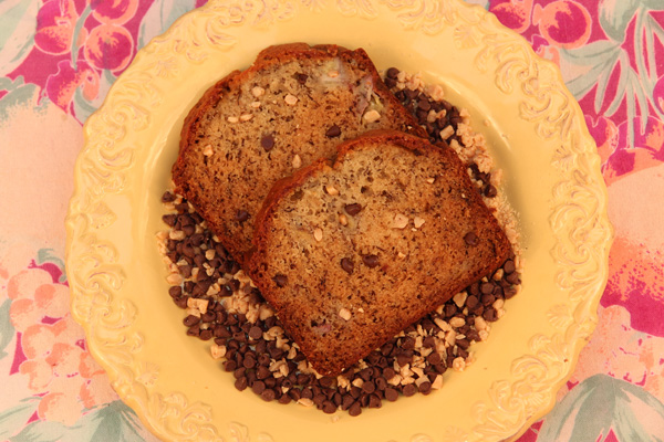 Toffee Chocolate Chip Banana Bread