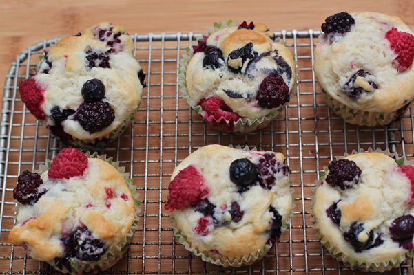 gluten free berry muffins