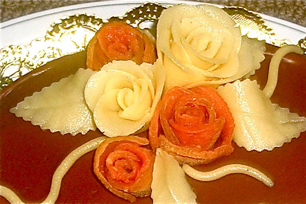 apricot and marzipan roses