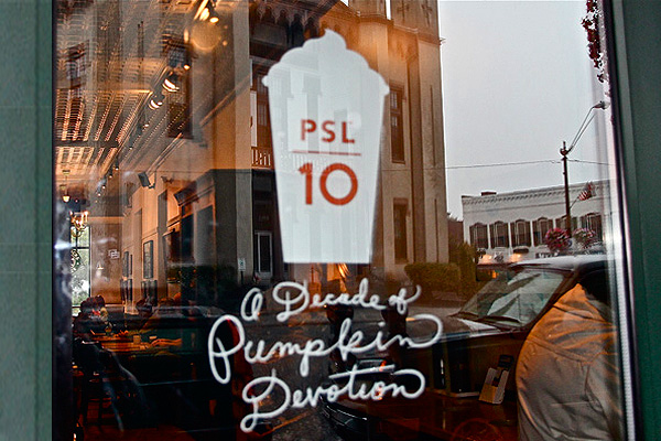 Starbucks Pumpkin Spice Latte 10 years PSL 10