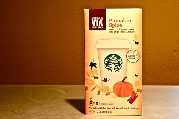 starbucks pumpkin spice via instant coffee