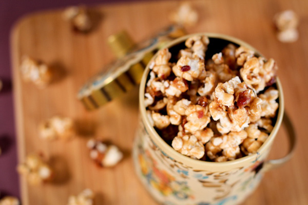 bacon bourbon salted caramel popcorn