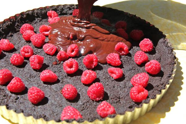 chocolate-truffle-tart-in-progress