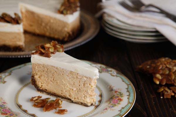 toffee pumpkin cheesecake