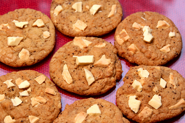 espressp white chocolate cookies