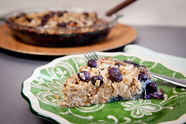 blueberry almond baked oatmeal