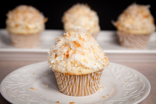 Toasted Almond Coconut Cupcakes