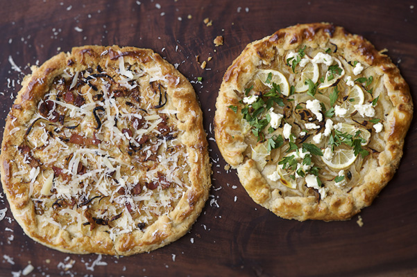 Rustic Cheese and Onion Galettes by Cowgirl Creamery
