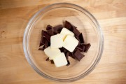 melting chocolate with butter