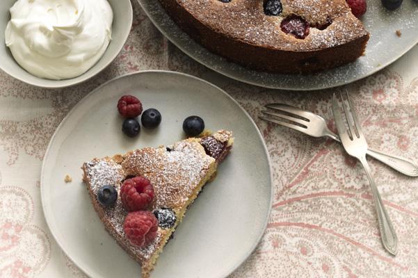 Polenta and Ricotta berry torte-slider