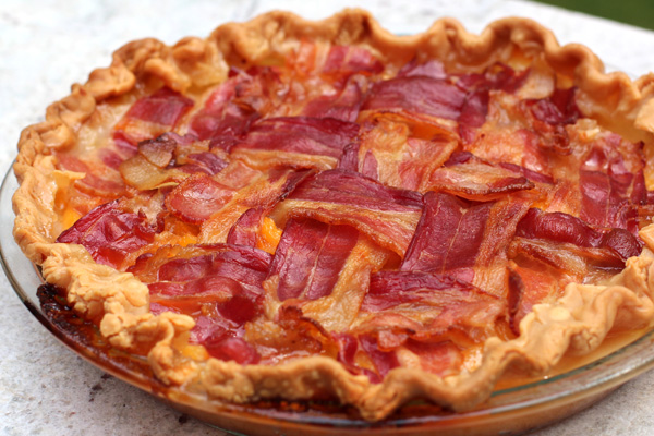 Bacon lattice Top Peach Pie