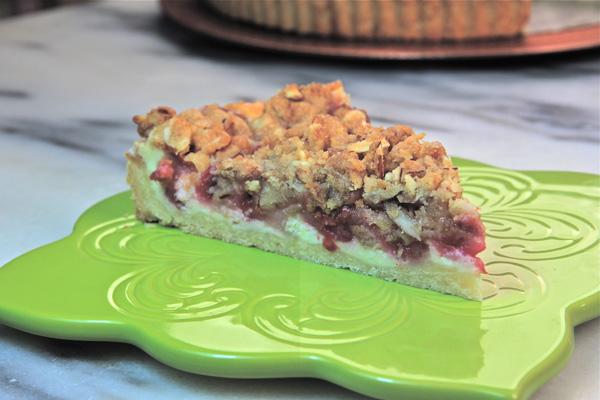Rhubarb Cheeecake Tart Slice_1