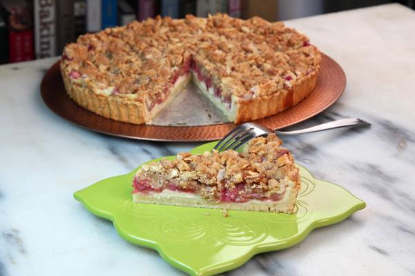 Rhubarb Cheesecake Tart