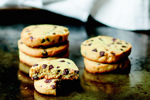 gluten-free-coconut flour chocolate chip cookies