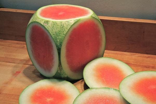 prepping watermelon
