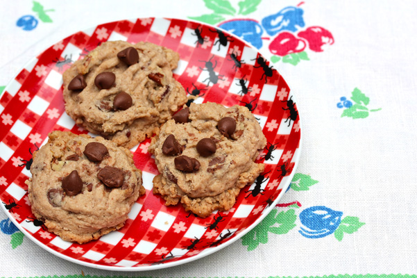 Browned Butter Bourbon Pecan Cookies with Milk Chocolate Chips 2