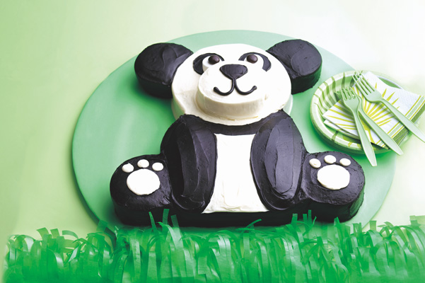 If You Have Two 8 Inch Round Cake Pans And A Standard 13x9 Baking Pan Can Easily Create This Adorable Panda Bear Shaped