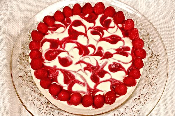 White Chocolate Cheesecake With Raspberries Recipe Bakepedia