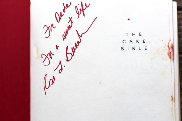 Cake bible dedication