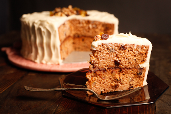 An Old-Fashioned Applesauce Cake with Apple Butter Filling