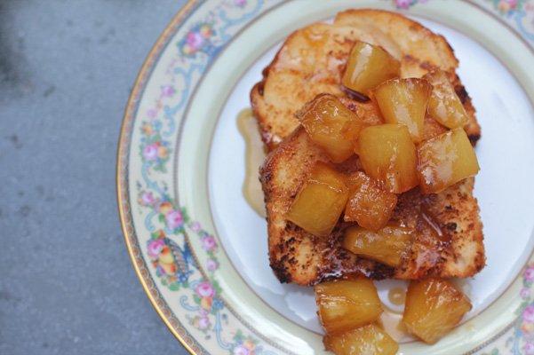 Grilled Pound Cake with Maple Caramelized Pineapple Recipe|Bakepedia