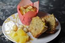 pineapple coconut macadamia muffin
