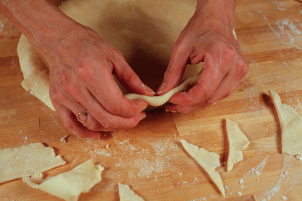 folding crust edges under