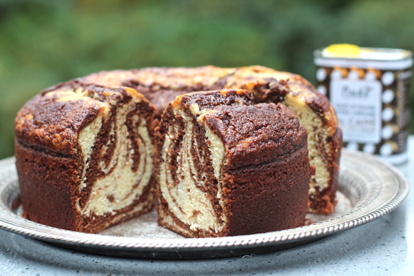 Coffee Chocolate Marble Cake Recipe