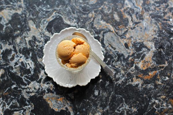 Pumpkin ice cream on Hollinsbrook