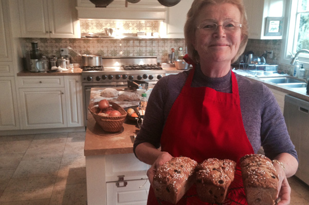 Anne with Yule Bread