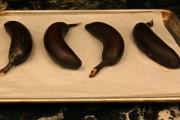 baked ripened bananas