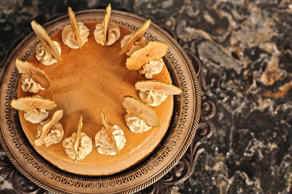 Gingerbread Cheesecake with Caramelized Apples and Molasses Whipped ...