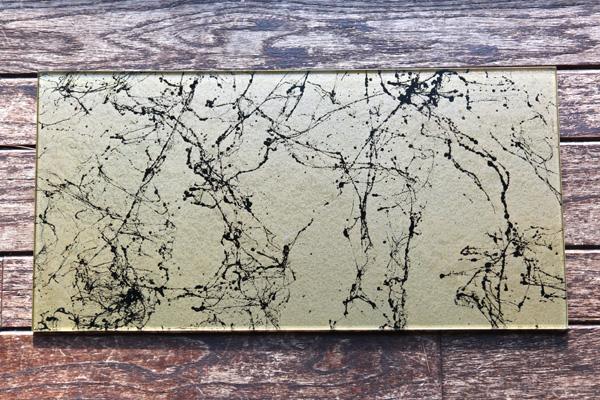 marbleized platter