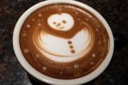 snowman latte