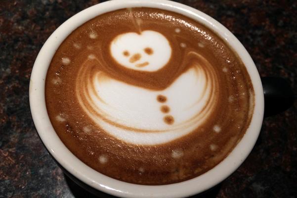 snowman latte1