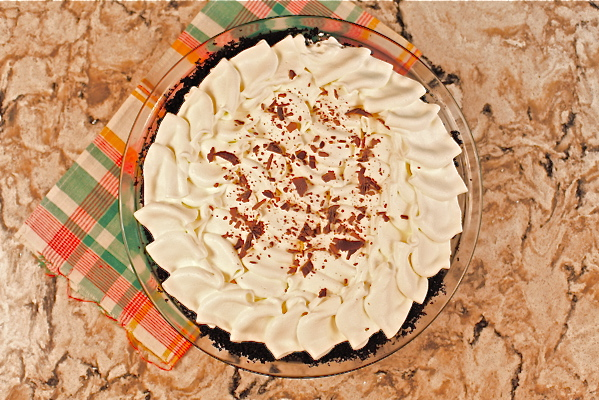 Butterscotch pie overhead Bellingham