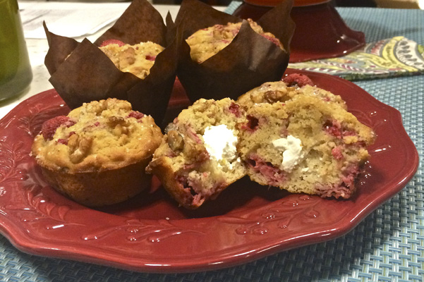 Goat Cheese Raspberry Muffins with Walnuts & Olive Oil ...