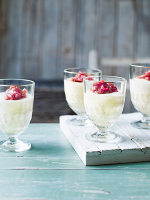 Rhubarb Puddings