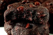 buckwheat double dark chocolate brownie cookies copy