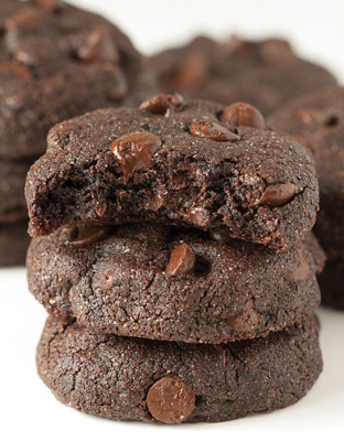buckwheat double dark chocolate brownie cookies