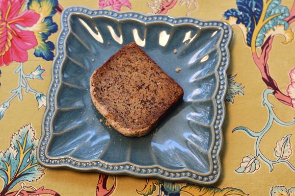 carla hall banana bread on plate