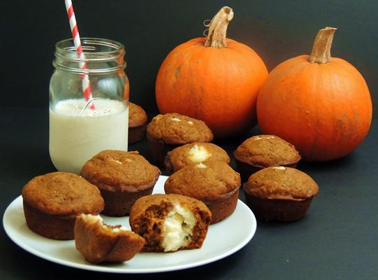 pumpkin cream cheese muffins wide