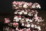 Peppermint Rocky Road Chocolate Bark Close-Up