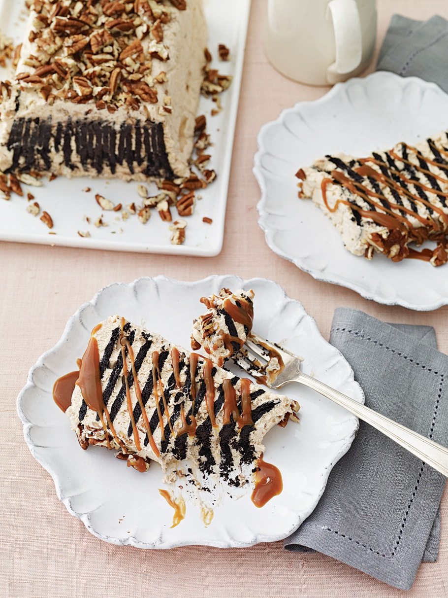 Salted Caramel-Toffee Icebox Cake Finish Shot