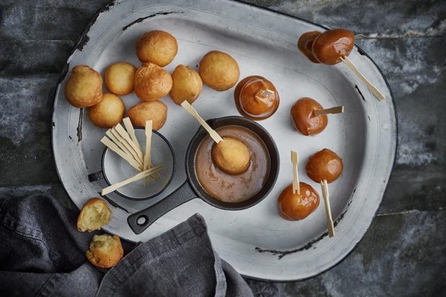 fried brioche doughnuts